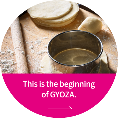 This is the beginning of GYOZA.