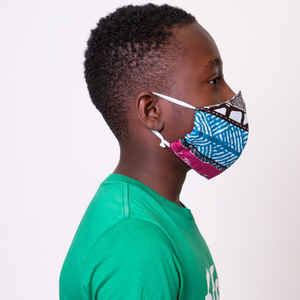 African Printed Cotton Face Mask - Wasulu London