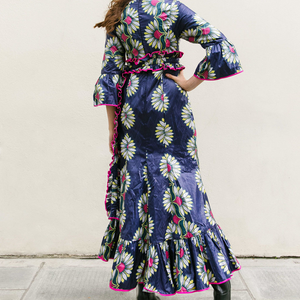Floral Kimono Maxi Dress - Wasulu London