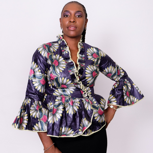 Hibiscus Floral Wrap Shirt - Wasulu London