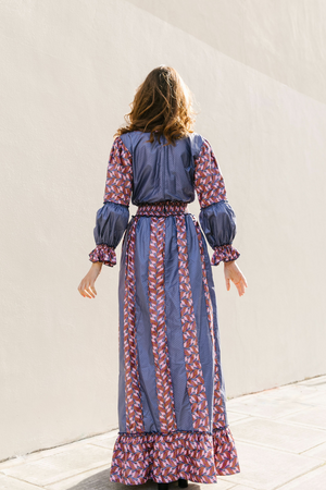 Two-tone Boho Maxi Dress - Wasulu London