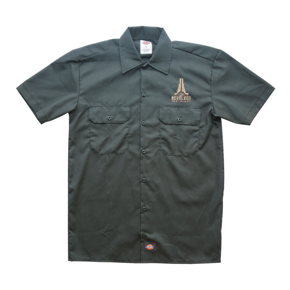 Men's Dickie's Grey Button-Up (Closeout Item - Limited Sizes Available)