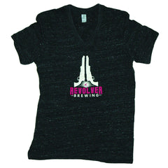 Ladies V-Neck T-Shirt - Grey