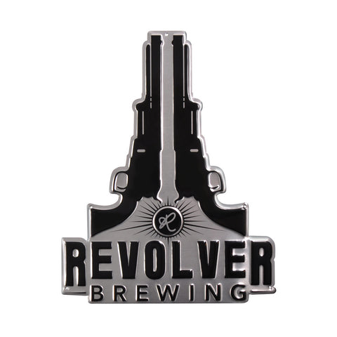 "Revolver Logo Metal Sign 14""x18"""