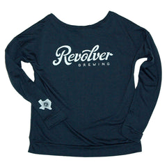 Ladies Wide Neck Sweat Shirt - Indigo