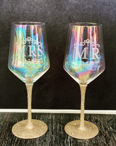 Wine Glasses Ready to Ship
