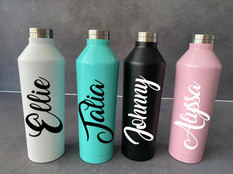 1ltr Stainless Steel Drink bottles Personalised
