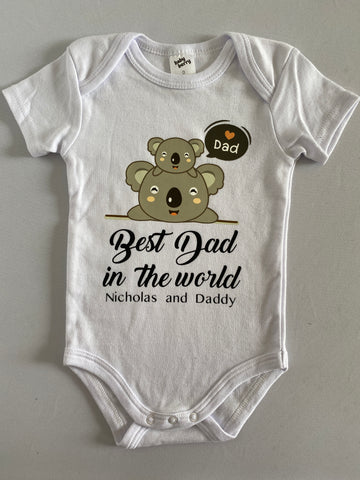 Fathers Day Day Onesie Short Sleeves
