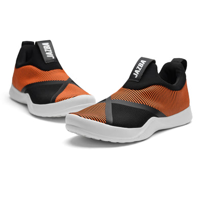 Safar Men Shoes - Orange Black