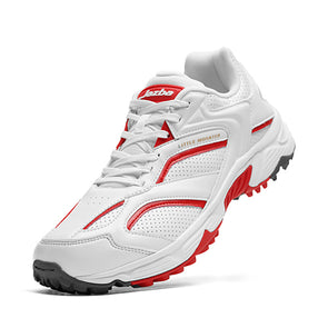 LITTLE MONSTER Men Shoes White Red Color
