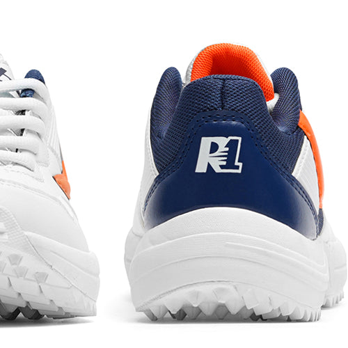 R1 Junior Basic Cricket Shoes Orange Navy Color