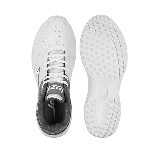 R1 Men Basic Cricket Shoes White Grey Color