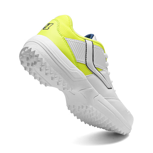 R1 Men Basic Cricket Shoes White Lime Color