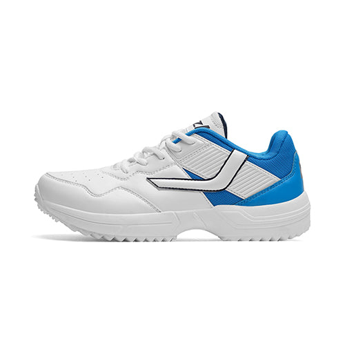 R1 Men Basic Cricket Shoes White Blue Color