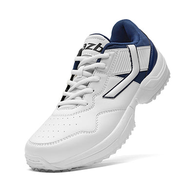 R1 Men Basic Cricket Shoes White Navy Color