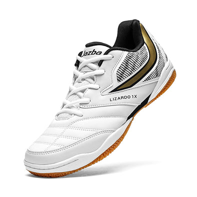 LIZARDO 1X Men Court Shoes White Gold Color