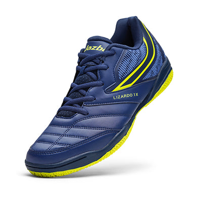 LIZARDO 1X Men Court Shoes Navy Lime Color