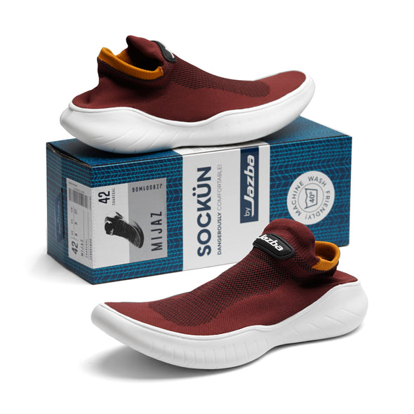 Mijaz Men Shoes - Maroon
