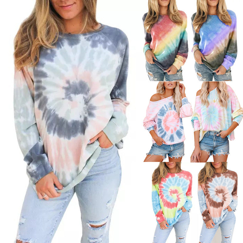 Tie-dyed Hoodies Sweaters for Women