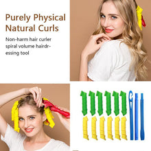 Load image into Gallery viewer, Magic Curlers Long Hair Spiral Curl Formers Leverage Rollers+Hook