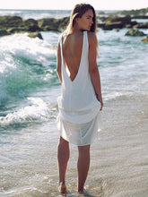 Load image into Gallery viewer, Chiffon Backless Sleeveless Maxi Dress Cover-Ups