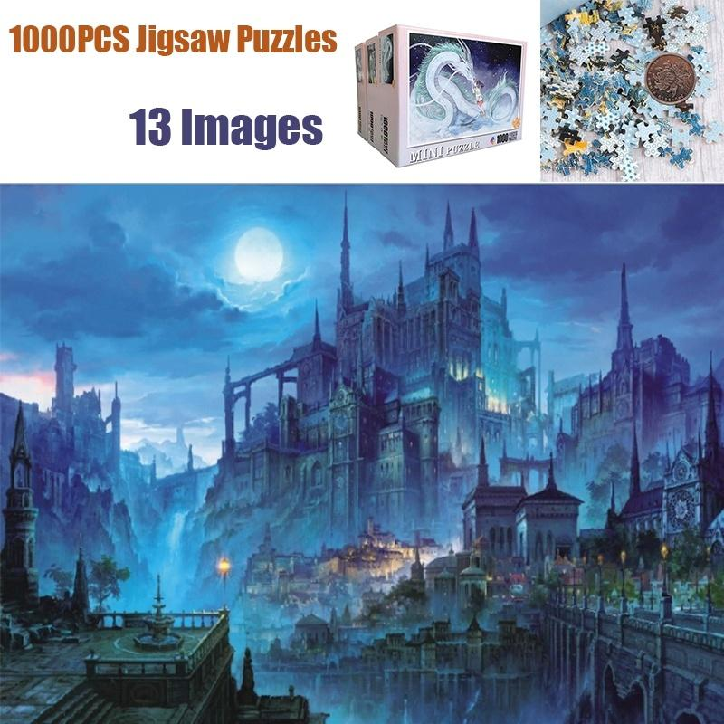 1000 Pcs High Definition Large Puzzles Toys 13 Patterns