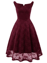 Load image into Gallery viewer, Vintage Simple V Collar kleingo Dress Elegant Sleeveless 1950s Dress with Embroidery