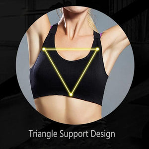 Hit Color X Shape Back Sports Bra
