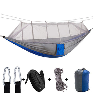 Indoor/Outdoor Home Hammock with Mosquito Net 260x140CM for 2 People