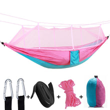 Load image into Gallery viewer, Indoor/Outdoor Home Hammock with Mosquito Net 260x140CM for 2 People