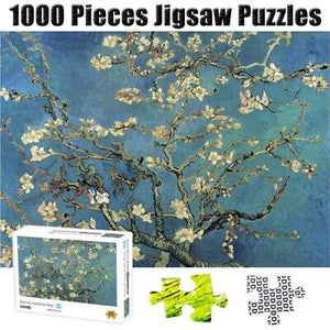 1000 Pieces Jigsaw Puzzles Apricot Blossom Adults Kids Puzzle Games By Van Gogh