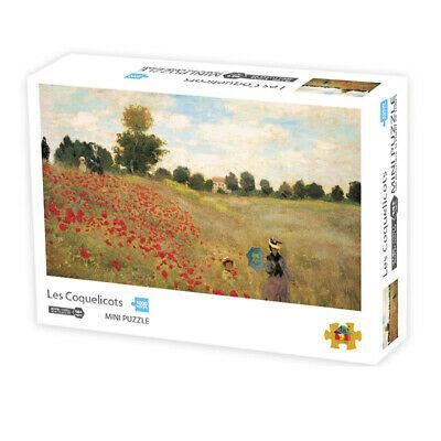 1000 Pieces High Difficult Adults Mini Jigsaw Puzzles -Claude Monet Poppy Field