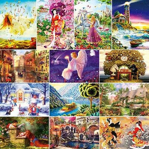 1000 Piece Mini Puzzles Kids Adult Jigsaw Puzzle Toys Gangshan Harbor Scenery