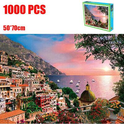 1000 Pieces Jigsaw Puzzles Educational Toy Aegean Sea Landscape Puzzle Toy New