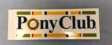 Pony Club Re-positional Sticker