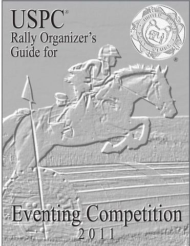 USPC Eventing Rally Organizer's Guide