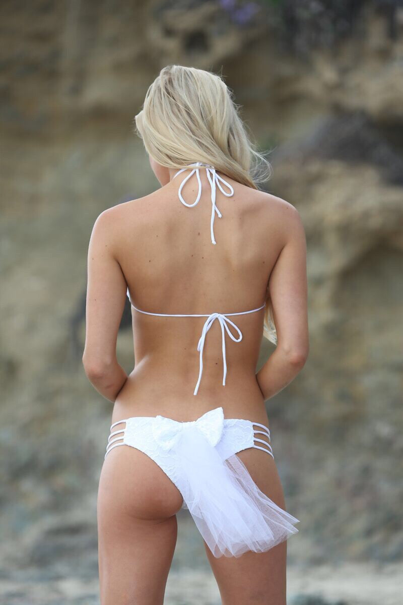 Honeymooner Bridal Bottom - Sweet Treat Bikinis