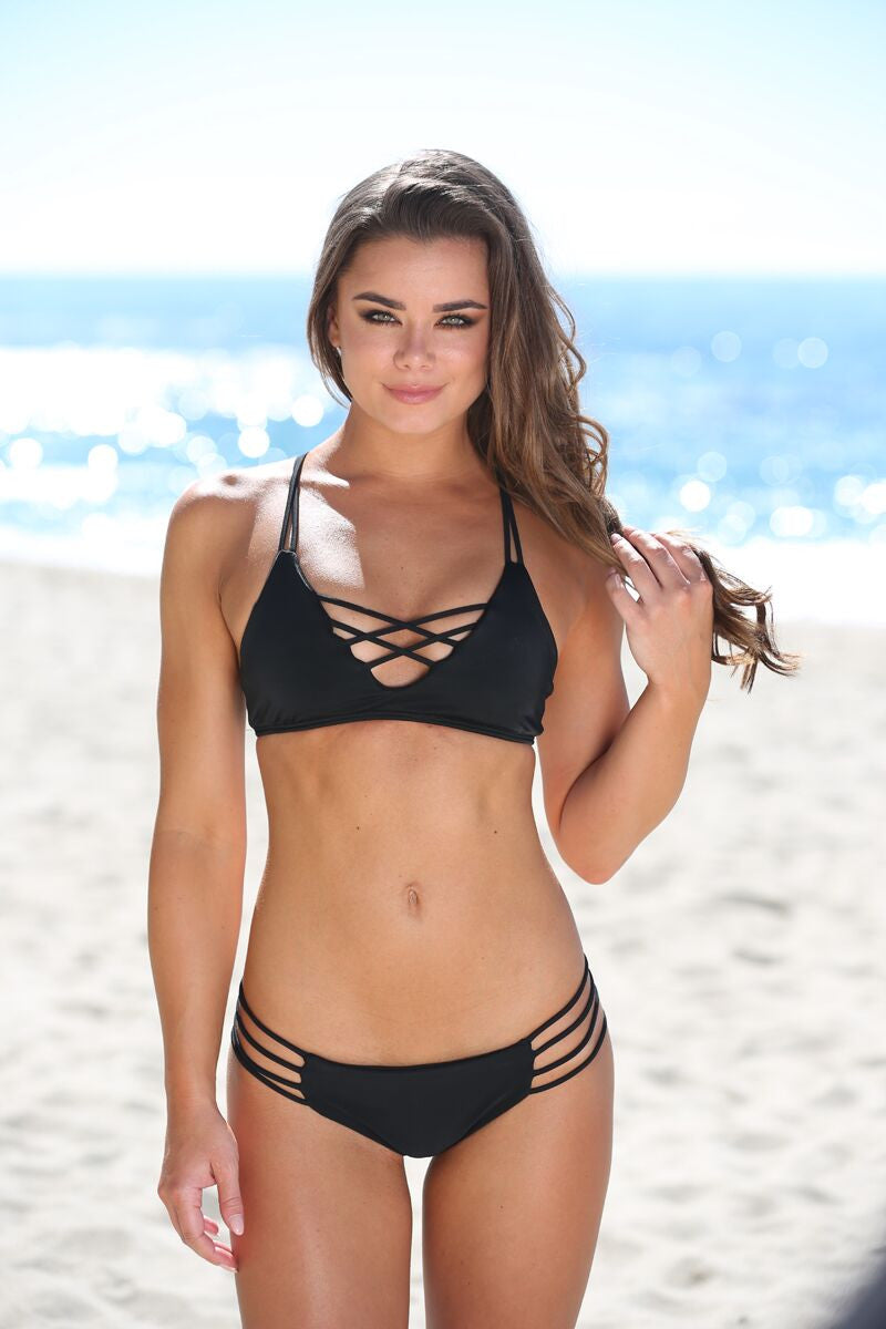 Stella Top in Black - Sweet Treat Bikinis