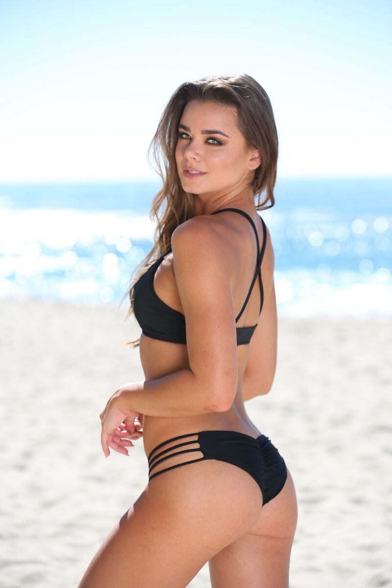 Stella Bottom in Black - Sweet Treat Bikinis