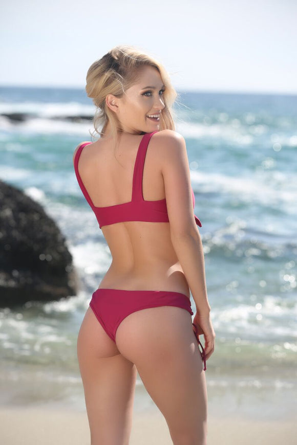 Avery Bottom in Berry - Sweet Treat Bikinis
