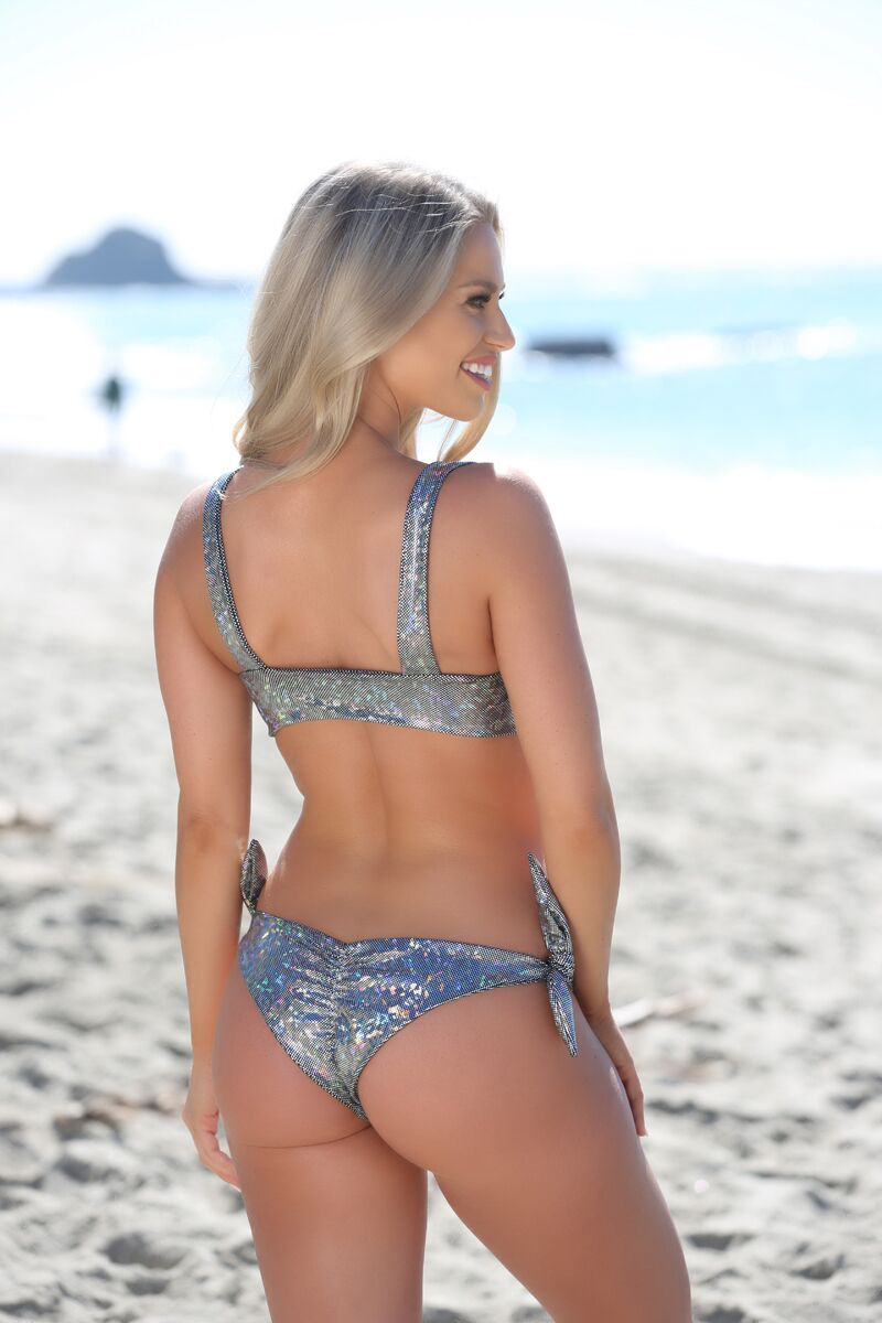 Avery Top in Holographic - Sweet Treat Bikinis