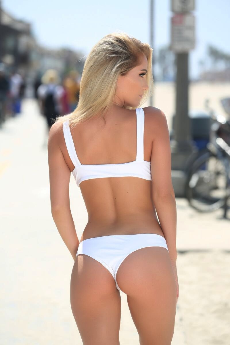 Avery Bottom in White - Sweet Treat Bikinis