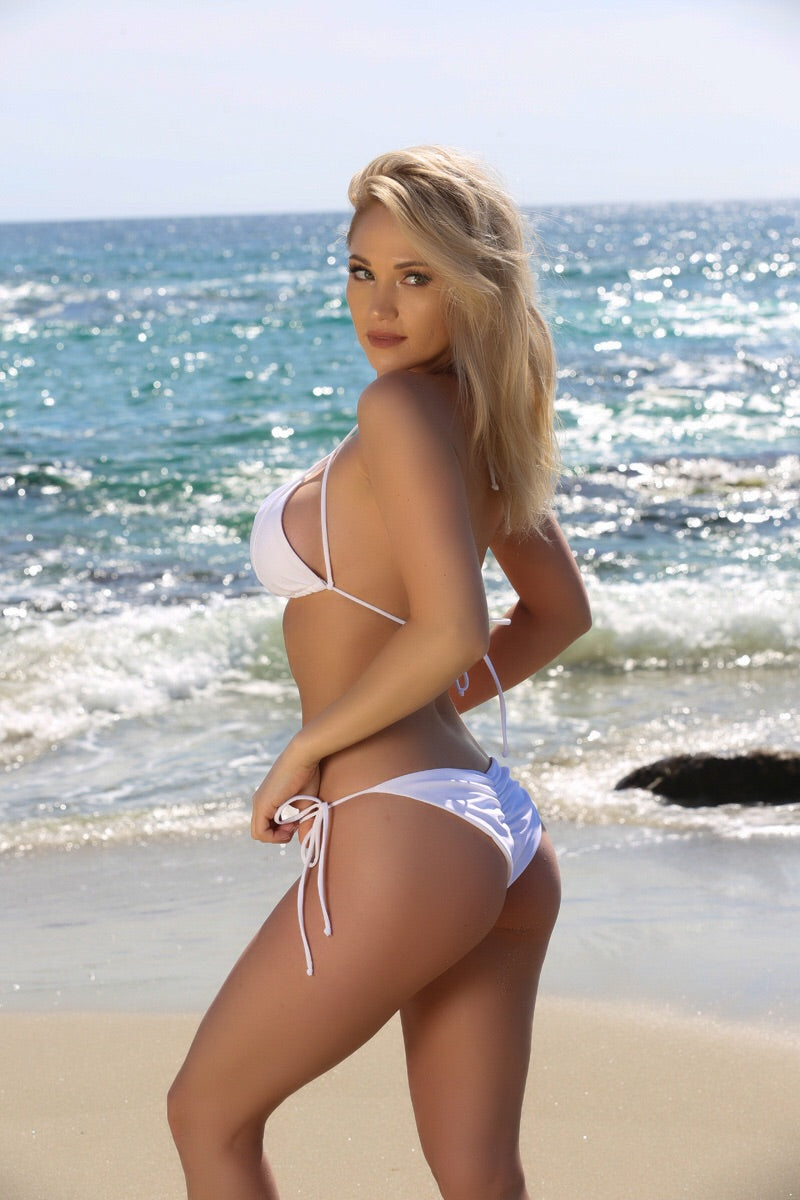 Blake Bottom in White - Sweet Treat Bikinis