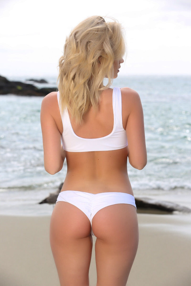 Hayley Bottom in White - Sweet Treat Bikinis