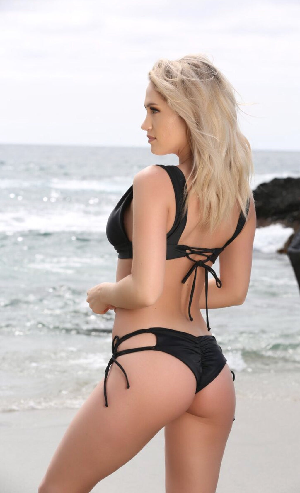 Sydney Bottom in Black - Sweet Treat Bikinis
