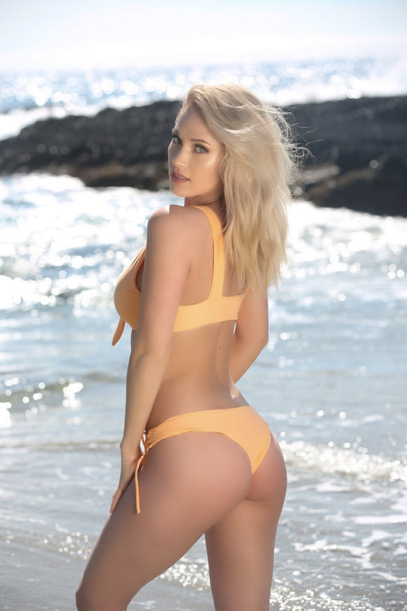 Avery Bottom in Peach - Sweet Treat Bikinis