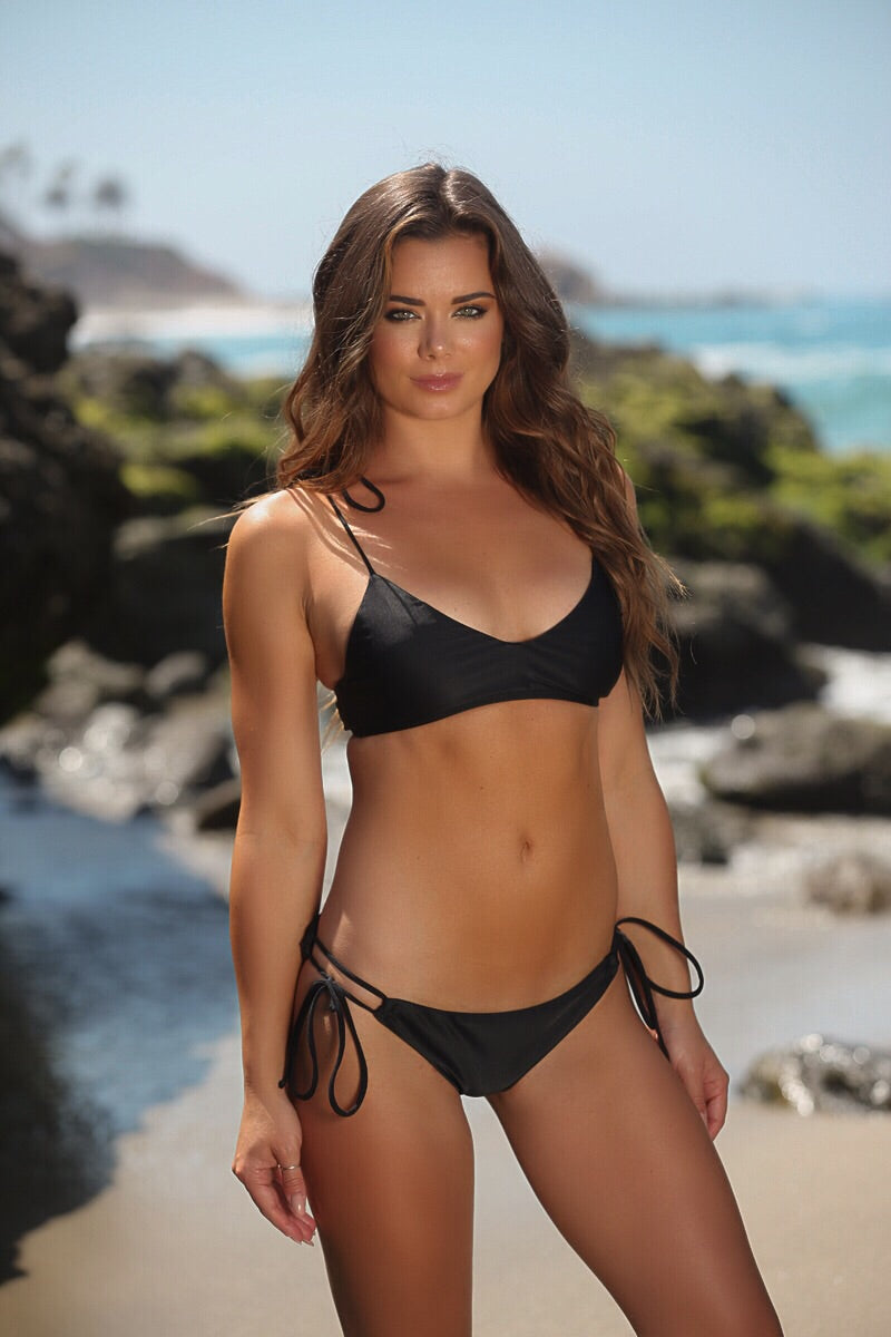 Riley Top in Black - Sweet Treat Bikinis