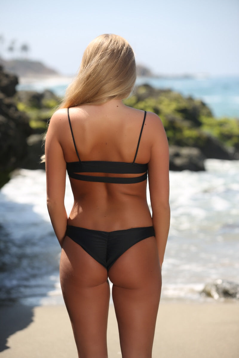 Piper Bottom in Black - Sweet Treat Bikinis