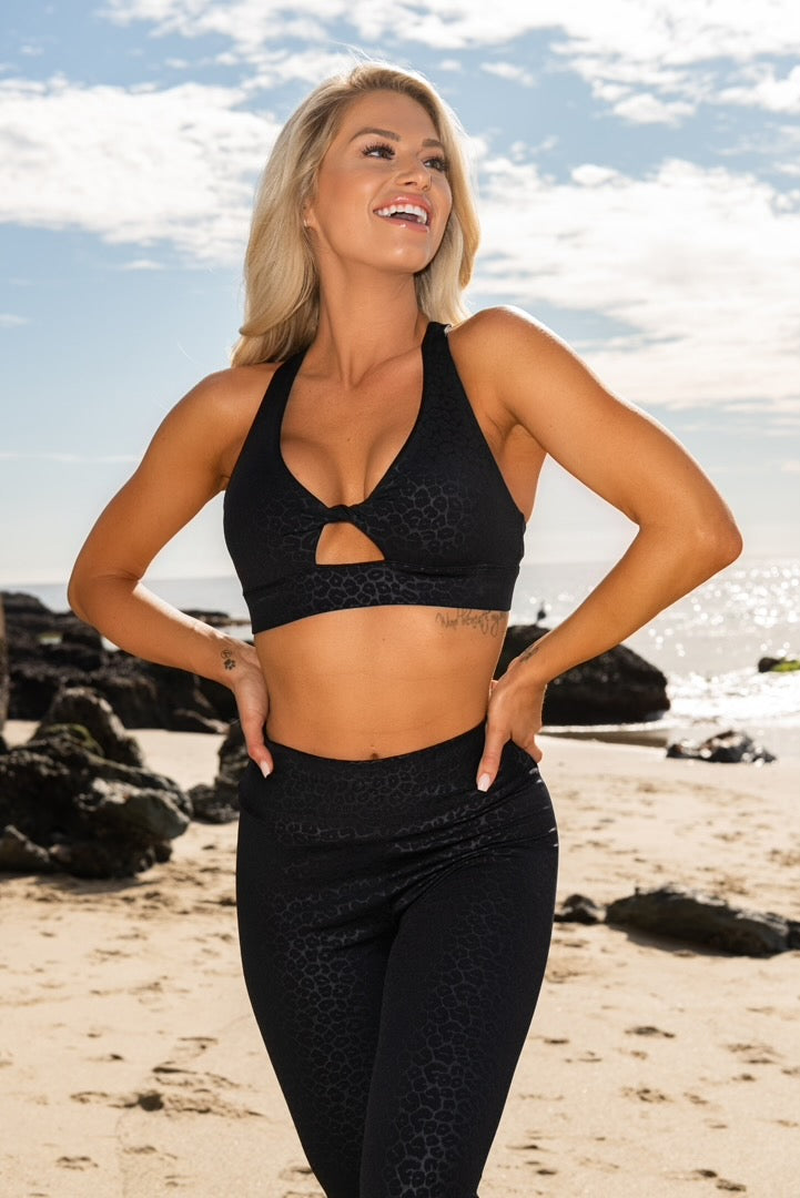Dylan Sports Bra - Black Leopard