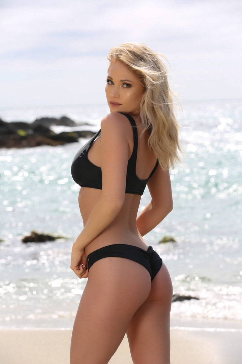 Hayley Bottom in Black - Sweet Treat Bikinis